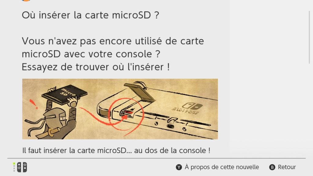 Switch Interface - Carte microSD