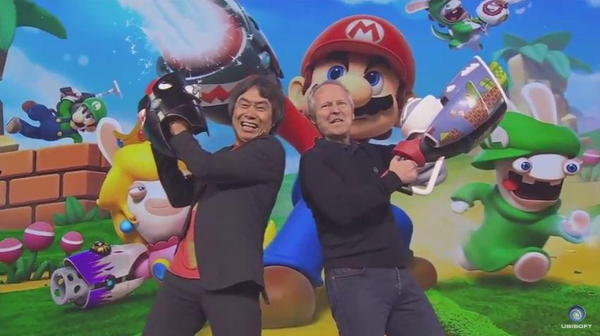 Mario + Lapins Crétins Miyamoto et Guillemot