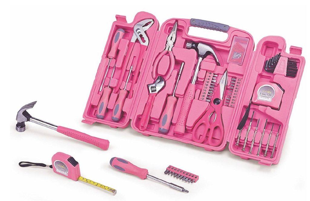 Boîte à outils rose