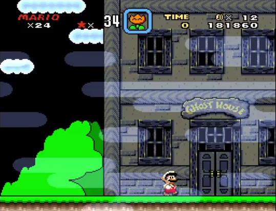 Super Mario World Ghost House