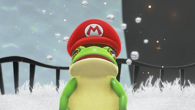 Super Mario Odyssey - Mario grenouille