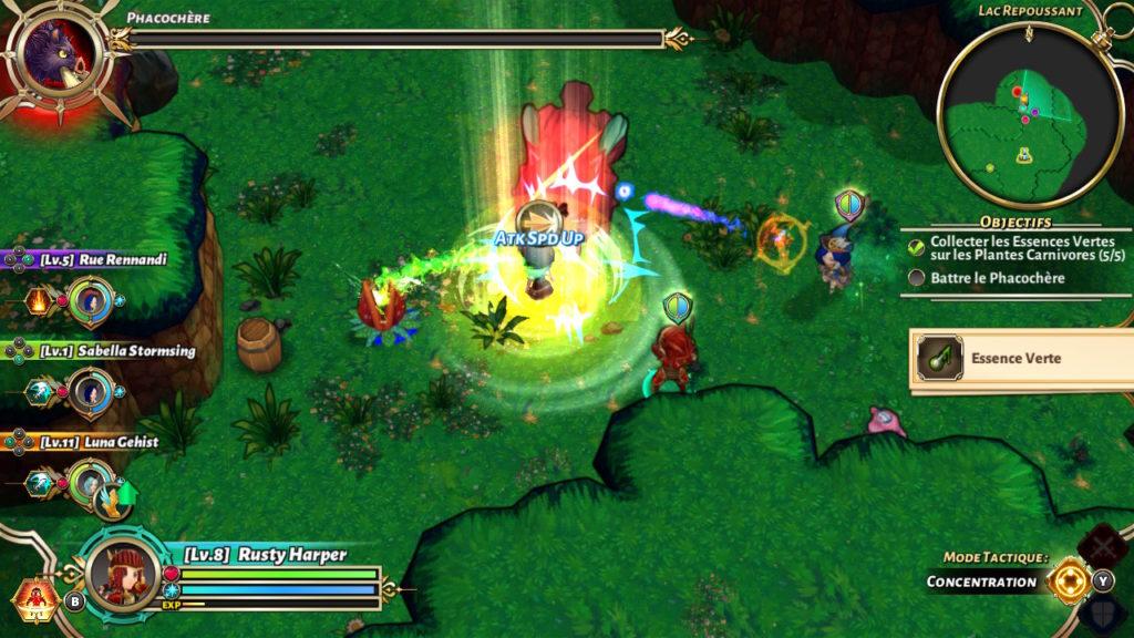 Valthirian Arc Hero School Story Switch - attaque monstre géant