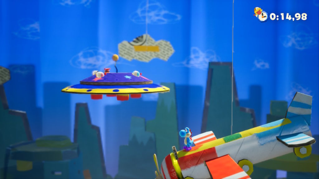 Yoshi Crafted World Switch - Tipoochys sur navette spatiale