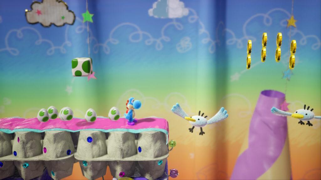 Yoshi Crafted World Switch - boites à œufs et mouettes