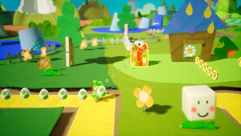 Yoshi Crafted World Switch - fleur dans prairie