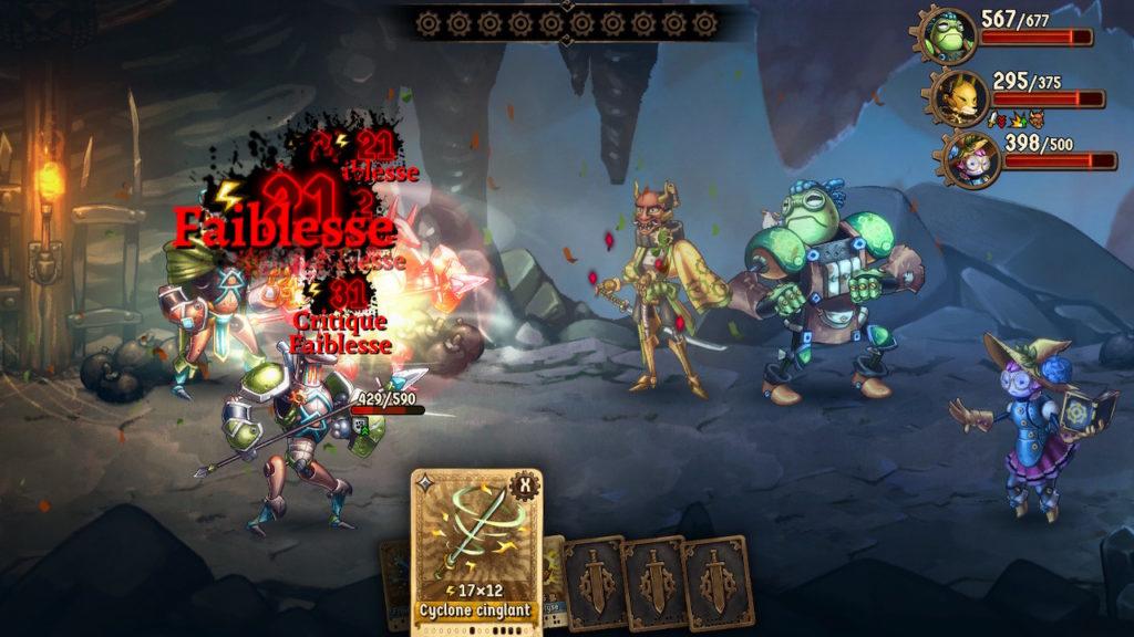 SteamWorld Quest - attaque faiblesse