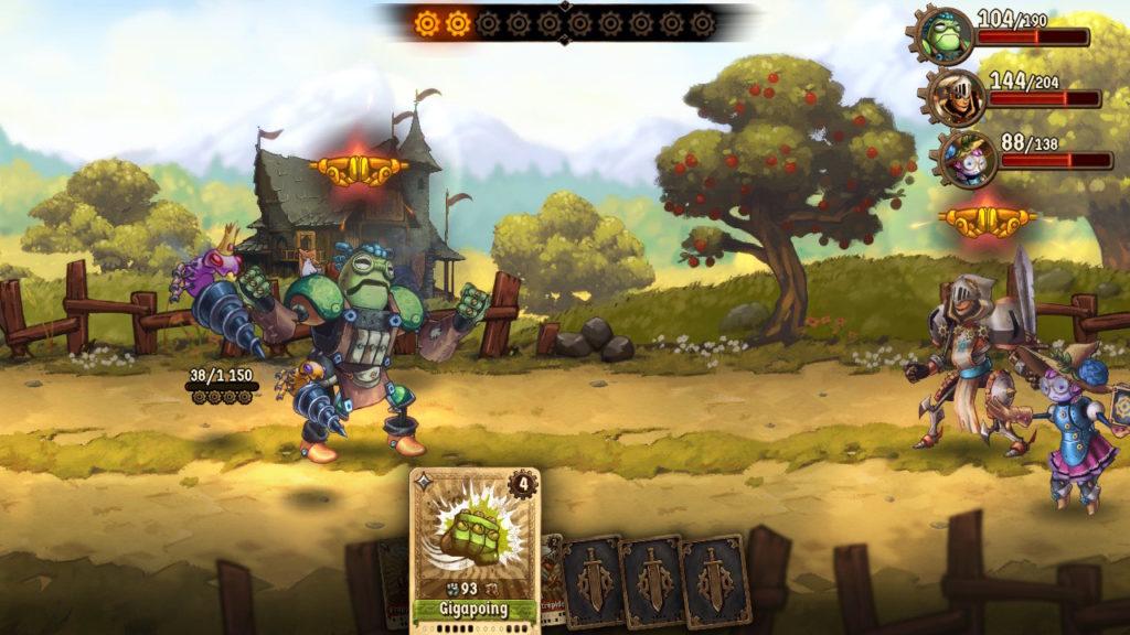 SteamWorld Quest - combo d'equipe