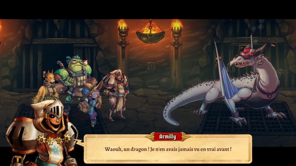 SteamWorld Quest - dragon