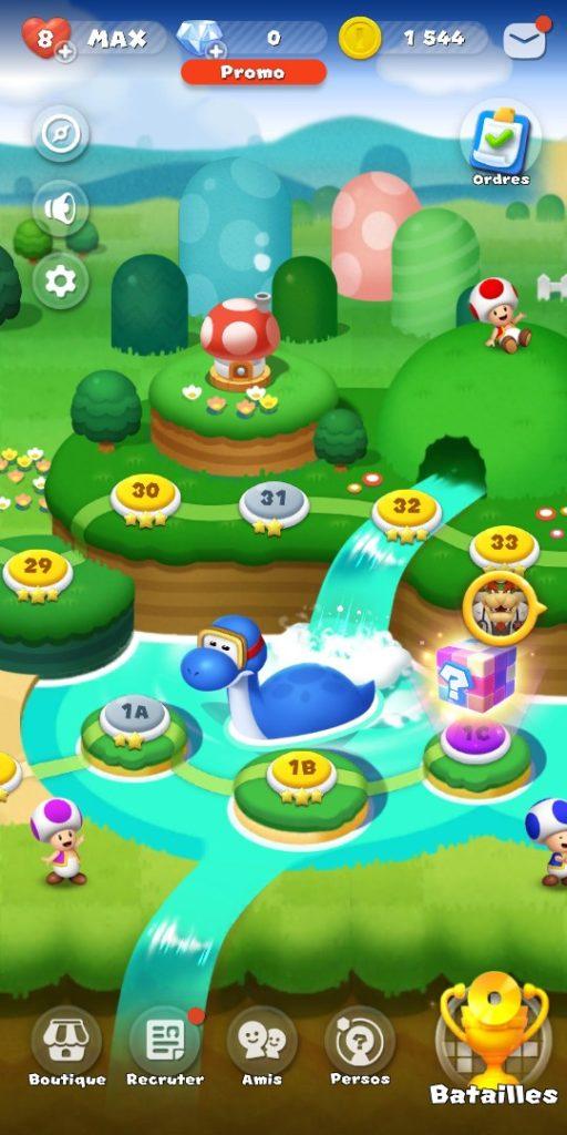 Dr Mario World - Mode aventure monde terminé