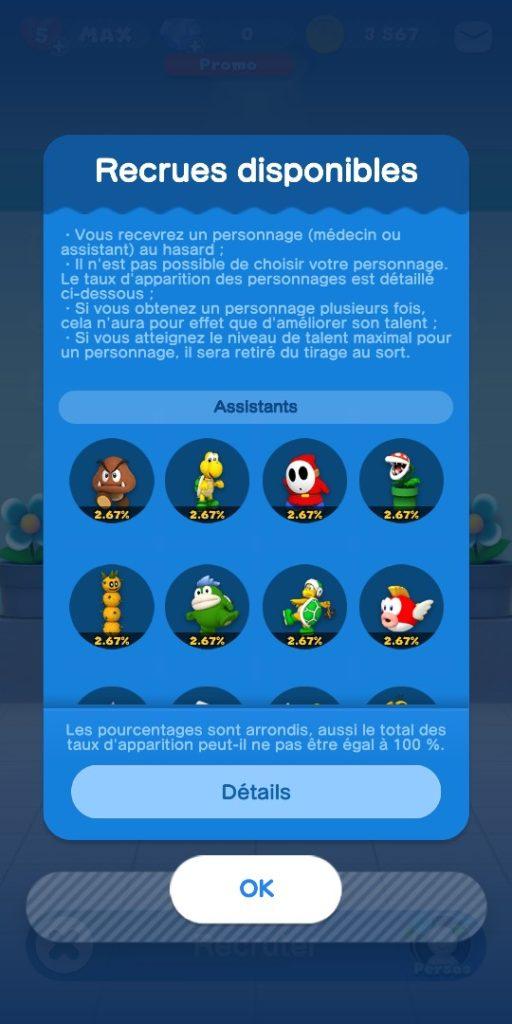 Dr Mario World - assistants possibles