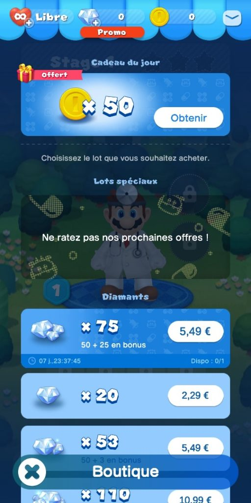 Dr Mario World - boutique