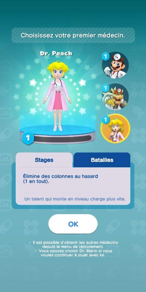Dr Mario World - docteur Peach