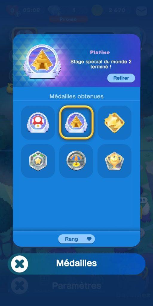 Dr Mario World - médailles