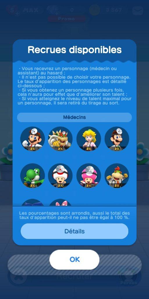 Dr Mario World - medecins possibles