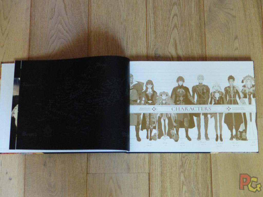 Unboxing Fire Emblem Three Houses - artbook intérieur